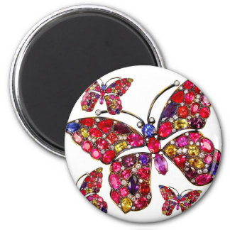 Vintage Costume Jewelry Rhinestones Diamonds Refrigerator Magnets