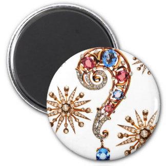 Vintage Costume Jewelry Rhinestones Diamonds Fridge Magnet