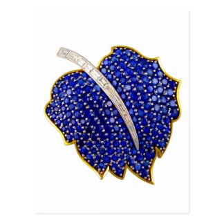 Vintage Costume Jewelry Rhinestones Diamonds Postcard