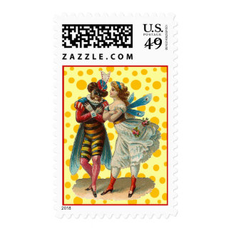 Vintage Costume Party Postage
