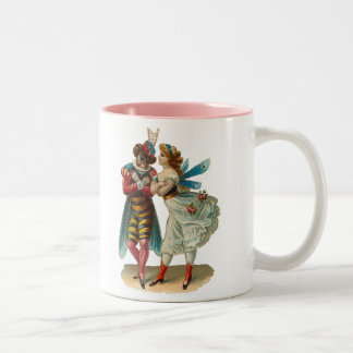 Vintage Costume Party Two-Tone Coffee Mug