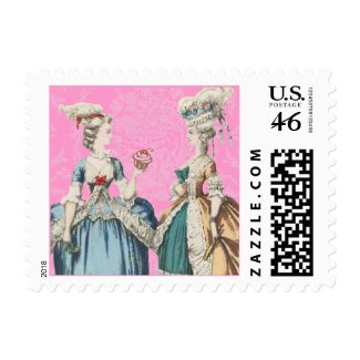 Vintage Costume Postage Stamps - Customized stamp