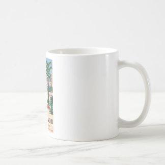 Vintage Cote D'Azur Beach Girl Classic White Coffee Mug