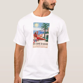 Vintage Cote D'Azur Beach Girl T-Shirt