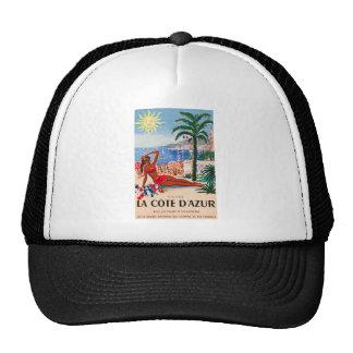 Vintage Cote D'Azur Beach Girl Trucker Hat