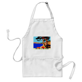 Vintage Cote D'Azur French Travel Adult Apron