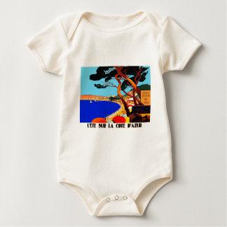 Vintage Cote D'Azur French Travel Baby Bodysuit