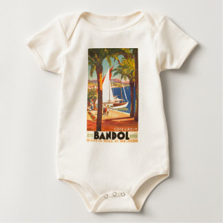 Vintage Cote D'Azur French Travel Baby Creeper