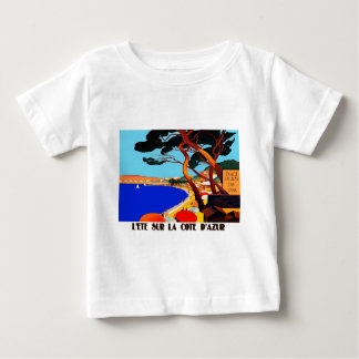 Vintage Cote D'Azur French Travel Baby T-Shirt