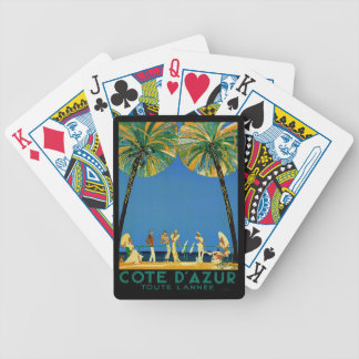 Vintage Cote D'Azur French Travel Bicycle Playing Cards