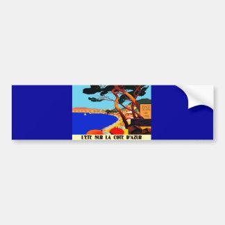 Vintage Cote D'Azur French Travel Bumper Sticker