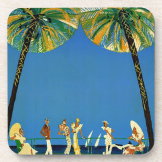 Vintage Cote D'Azur French Travel Coaster