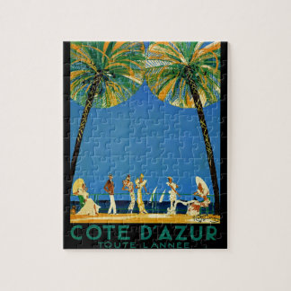 Vintage Cote D'Azur French Travel Jigsaw Puzzle