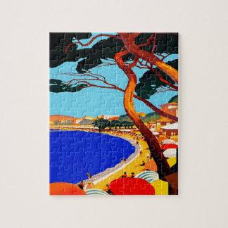 Vintage Cote D'Azur French Travel Jigsaw Puzzle