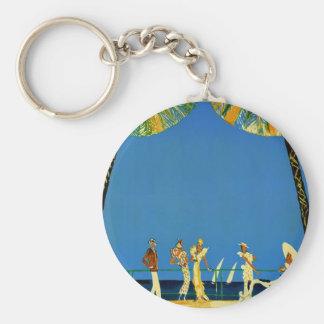 Vintage Cote D'Azur French Travel Key Chain