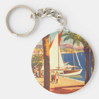 Vintage Cote D'Azur French Travel Keychain