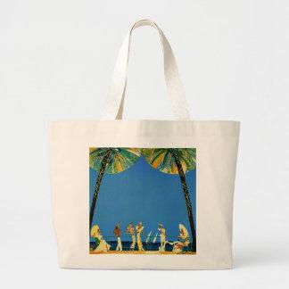 Vintage Cote D'Azur French Travel Large Tote Bag