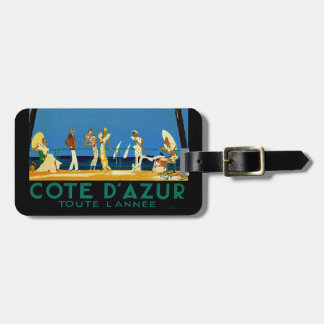 Vintage Cote D'Azur French Travel Luggage Tag