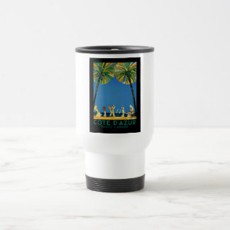 Vintage Cote D'Azur French Travel Mug
