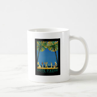 Vintage Cote D'Azur French Travel Classic White Coffee Mug