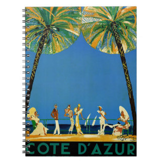 Vintage Cote D'Azur French Travel Notebook