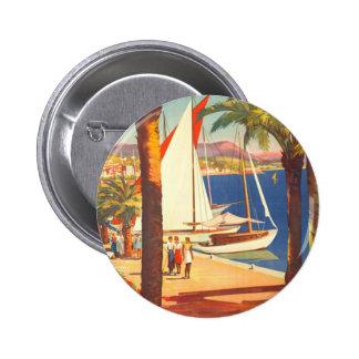 Vintage Cote D'Azur French Travel Pinback Button