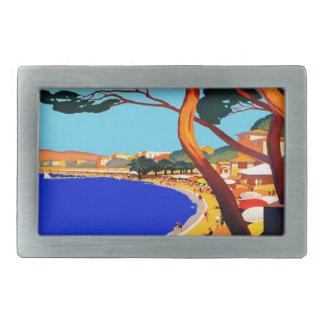 Vintage Cote D'Azur French Travel Rectangular Belt Buckle