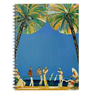 Vintage Cote D'Azur French Travel Spiral Notebook