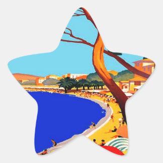 Vintage Cote D'Azur French Travel Star Sticker