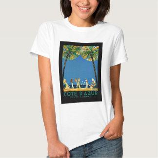 Vintage Cote D'Azur French Travel T Shirts