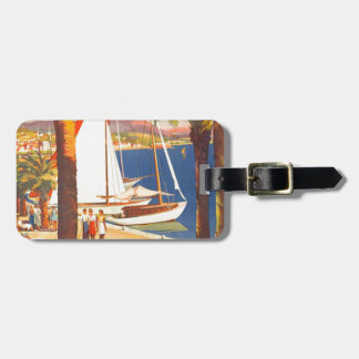 Vintage Cote D'Azur French Travel Tag For Luggage