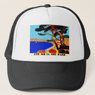 Vintage Cote D'Azur French Travel Trucker Hat