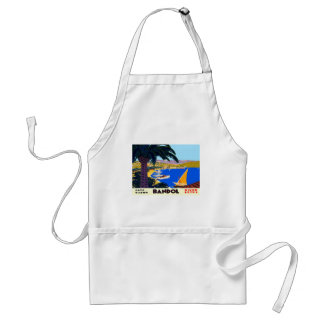Vintage Cote D'Azur Travel Adult Apron