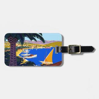 Vintage Cote D'Azur Travel Bag Tag