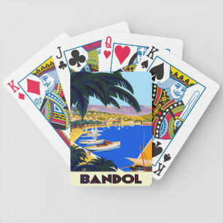 Vintage Cote D'Azur Travel Bicycle Playing Cards