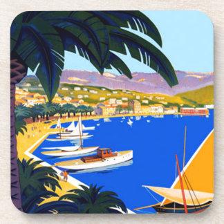 Vintage Cote D'Azur Travel Drink Coaster