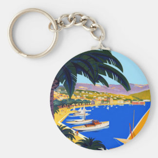 Vintage Cote D'Azur Travel Keychain
