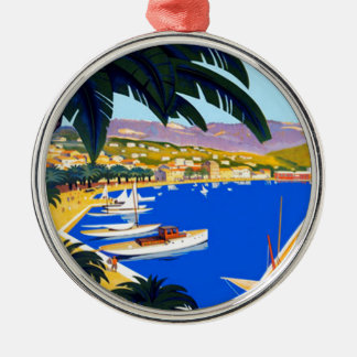 Vintage Cote D'Azur Travel Metal Ornament