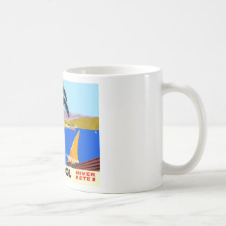 Vintage Cote D'Azur Travel Classic White Coffee Mug