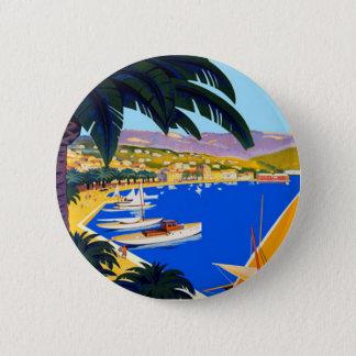Vintage Cote D'Azur Travel Pinback Button