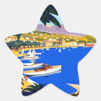 Vintage Cote D'Azur Travel Star Sticker
