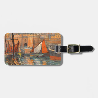 Vintage Cote d'Emeraude Saint Malo Port Tourism Bag Tag