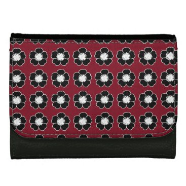 USA Themed Vintage-Cottage-Flowers-Deep-Red-Wallet's-Multi Wallets