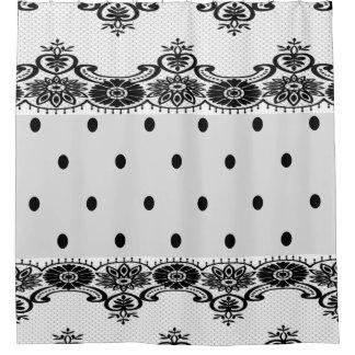 Black White Polka Dots Shower Curtains | Zazzle