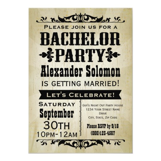 vintage country bachelor party invitation | zazzle, Party invitations