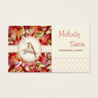 Vintage Country Bird Consultant Business Business Card
