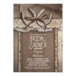 "vintage country bridal shower invitations 5"" x 7"" invitation card"