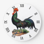 Vintage Country Chic Proud Colorful Rooster Clocks