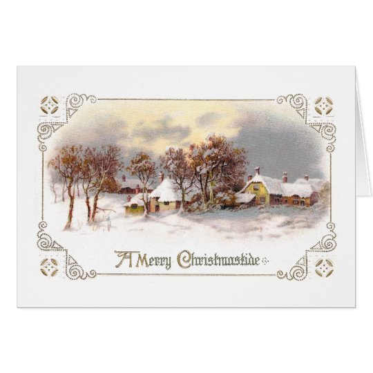 Vintage Country Christmas Card
