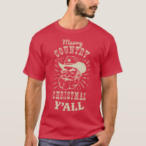 Vintage Country Christmas Cowboy T-Shirt
